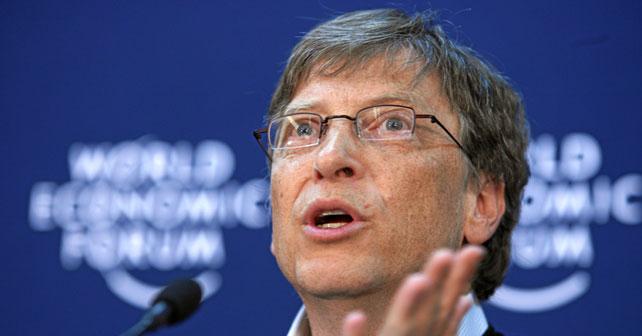 Na fotografiji je prikazan programer, preduzetnik: Bill Gates (Bil Gejts)