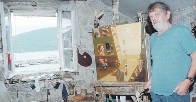 Na fotografiji je prikazan slikar, vajar: Vojo Stanić