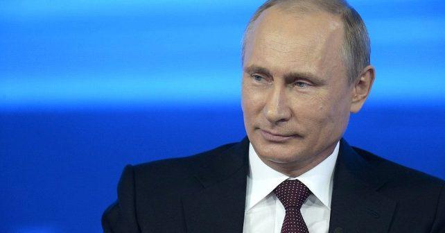 Na fotografiji je prikazan predsjednik ruske federacije: Vladimir Putin