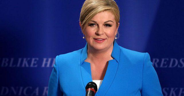 Na fotografiji je prikazan predsednica hrvatske, političar: Kolinda Grabar Kitarović