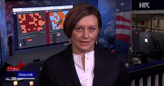 Na fotografiji je prikazan novinarka, reporterka: Branka Slavica