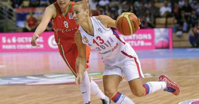 Na fotografiji je prikazan košarkašica: Milica Dabović