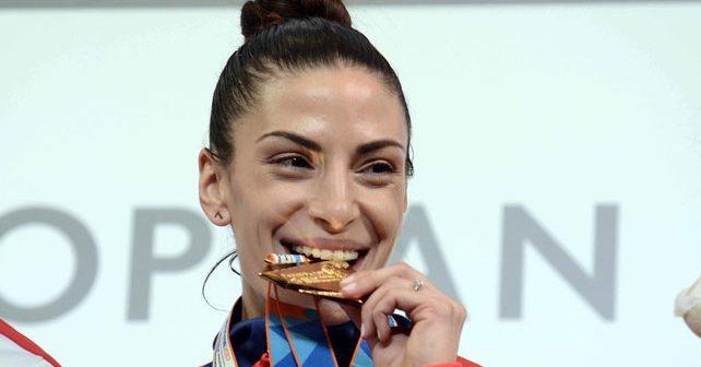 Na fotografiji je prikazan atletičarka: Ivana Španović