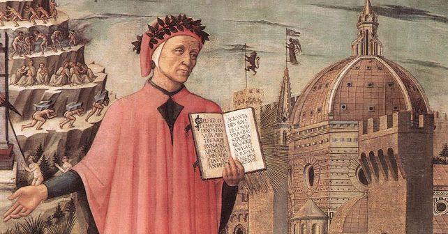 """Na fotografiji je prikazan pesnik, književnik: Dante Aligijeri (Durante """"Dante"""" degli Alighieri)"""
