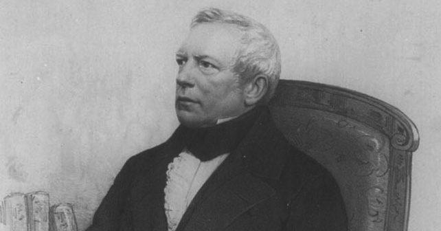 Na fotografiji je prikazan pisac, pastor, profesor: Gustav Švab