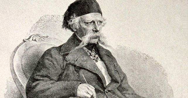 Na fotografiji je prikazan pisac, lingvist, filolog: Vuk Stefanović Karadžić