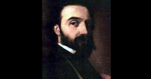Na fotografiji je prikazan književnik, slikar: Đura Jakšić