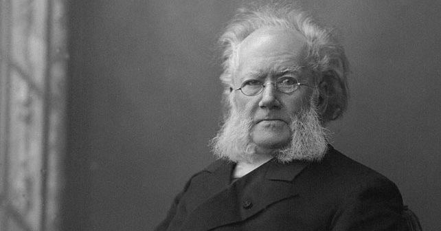 Na fotografiji je prikazan književnik, pisac: Henrik Ibsen