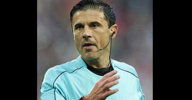 Na fotografiji je prikazan fudbalski sudija: Milorad Mažić