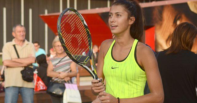 Na fotografiji je prikazan teniserka: Olga Danilović
