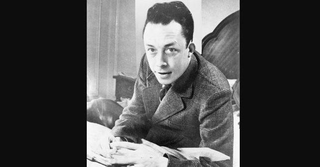 Na fotografiji je prikazan književnik, filozof: Albert Camus (Albert Kami)