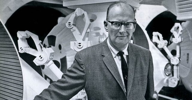 Na fotografiji je prikazan književnik: Artur Klark (Arthur C. Clarke)