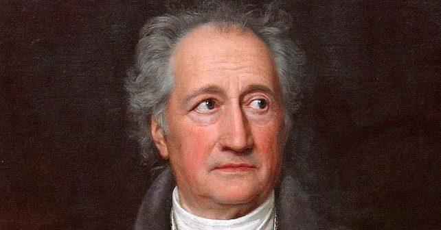 Na fotografiji je prikazan književnik, naučnik, političar: Johan Volfgang Gete
