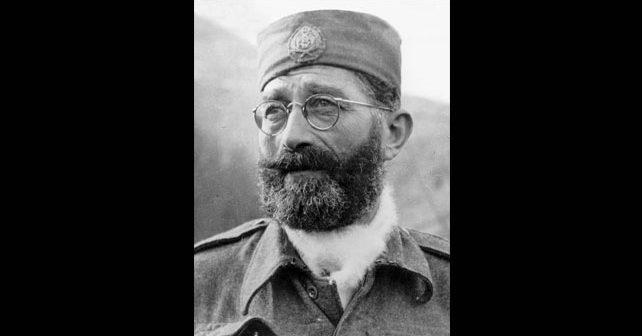 Na fotografiji je prikazan vojnik, general, vođa četnika: Dragoljub Mihailović Draža