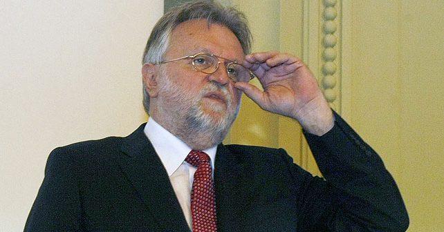 Na fotografiji je prikazan političar, doktor ekonomskih nauka: Dušan Vujović