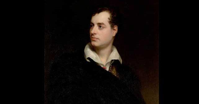 Na fotografiji je prikazan književnik: Džordž Gordon Bajron (George Gordon Byron)