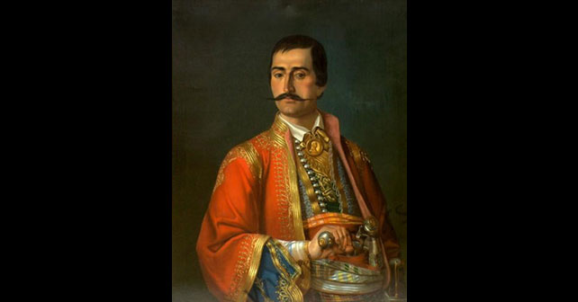 Na fotografiji je prikazan hajduk, vojnik: Veljko Petrović (Hajduk)