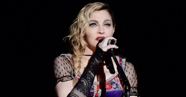 Na fotografiji je prikazan pevačica: Madonna