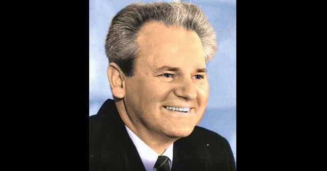 Na fotografiji je prikazan političar, pravnik: Slobodan Milošević