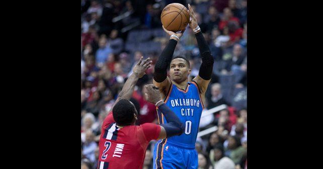 Na fotografiji je prikazan košarkaš: Rasel Vestbruk (Russell Westbrook)
