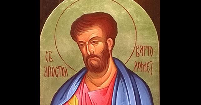 Na fotografiji je prikazan propovjednik: Sveti apostol Vartolomej