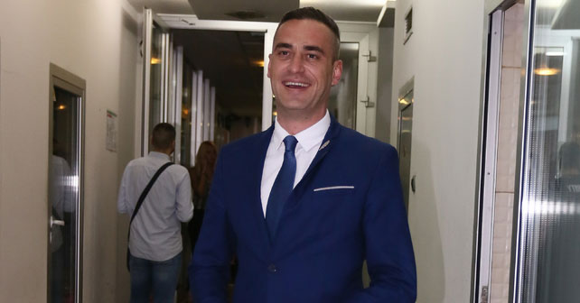 Na fotografiji je prikazan voditelj, političar: Aleksandar Požgaj