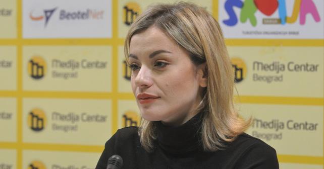 Na fotografiji je prikazan voditeljka, političarka: Hana Adrović